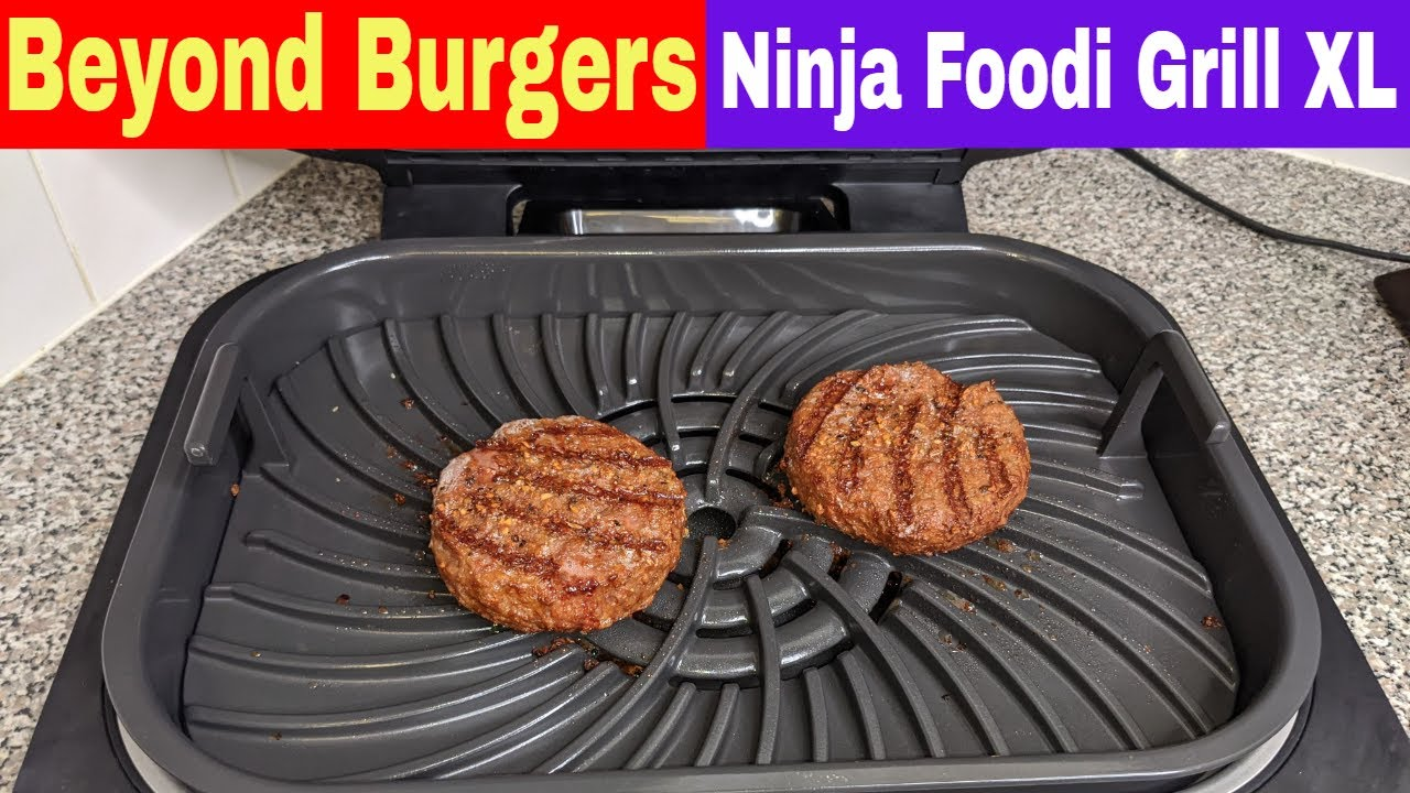 Beyond Burger Cooking on the Grill, Ninja Foodi Grill XL Recipe