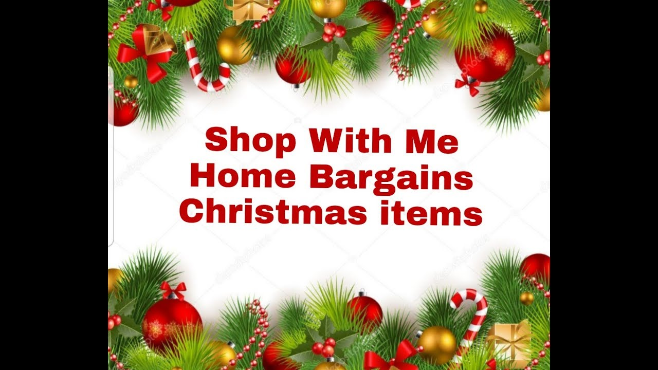 Christmas Items.Home Bargains Christmas Items Shop With Me Filmed 29th Sept 2018