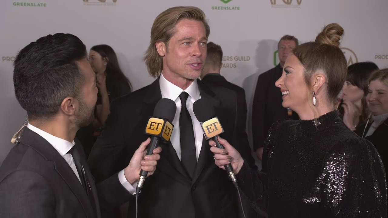 Brad Pitt Jokes His Dance Moves Haven't 'Grown or Evolved' Since Prom | PGA Awards 2020