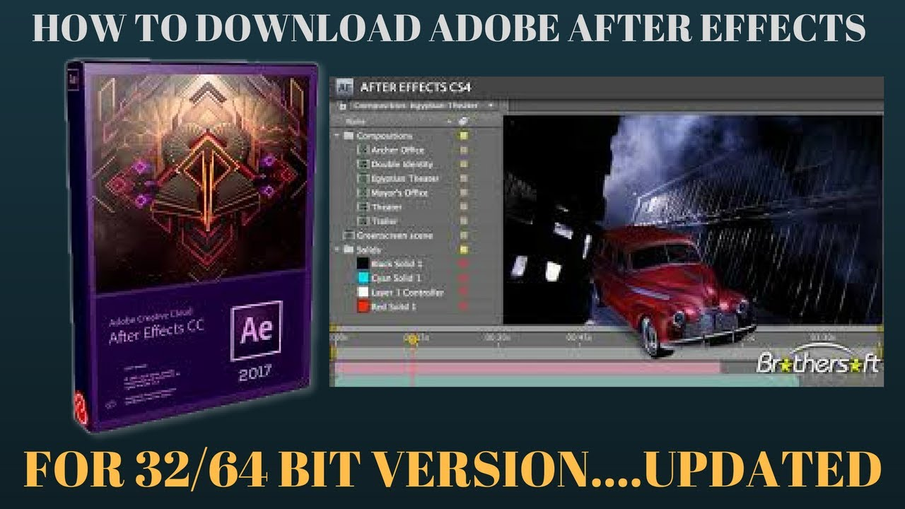 How To Download Adobe Aftereffects For 32 64 Bit Updated Youtube