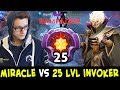 MIRACLE vs 25 LEVEL Invoker — RAMPAGE on Battle Cup Finals