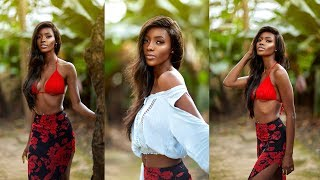 Shooting A Beautiful Dark Skinned African Model Like Irene Rudnyk