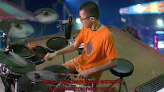 The Vamps - Last Night (Karaoke Drum Cover by Timothy Liem) (with lyrics)