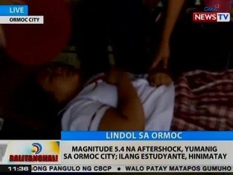 BT: Magnitude 5.4 na aftershock, yumanig sa Ormoc City; ilang estudyante, hinimatay