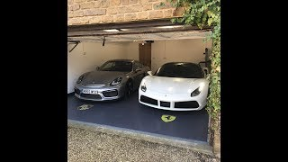 Double Garage Installation completed by Garage Style Ltd. Garage Goals Ferrari 488 + Porsche gt3