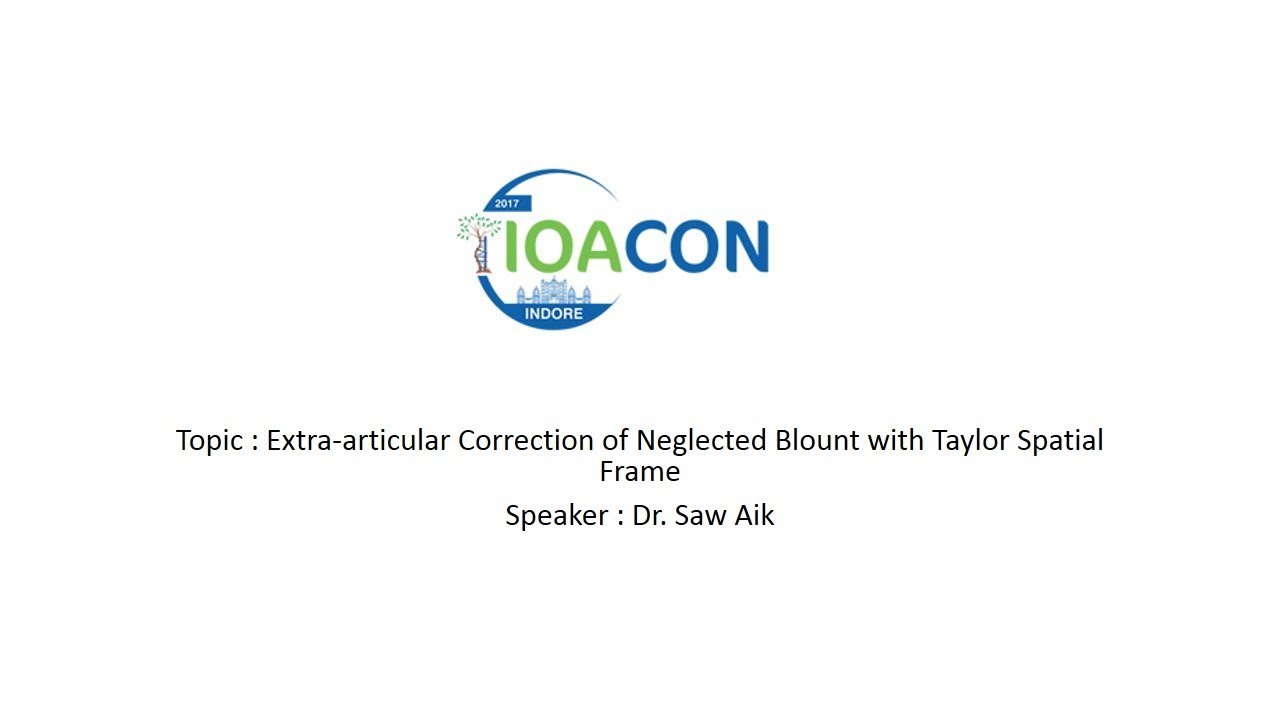 Extra-articular Correction of Neglected Blount with Taylor Spatial ...