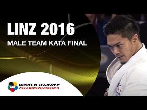 Karate FINAL. Male Team Kata JAPAN. Kata Anan. 2016 World Karate Championships