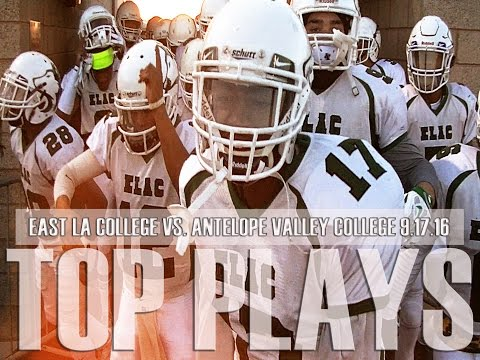 Elac Football - Antelope Valley CC (TOP PLAYS) 9-17-16