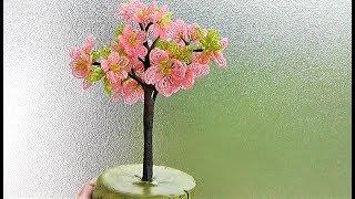 Дерево из бисера / САКУРА из бисера мастер-класс