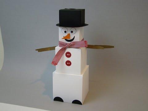 Gift Box Punch Board Snowman