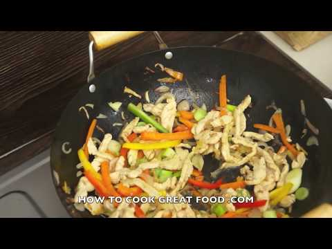 Chicken Stir Fry Recipe - 5 Min Wok Cooking - Super Easy N Fast