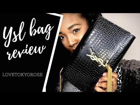 5db02020958 YSL Saint Laurent Bag Review Medium Embossed Croc Kate w/tassel - YouTube