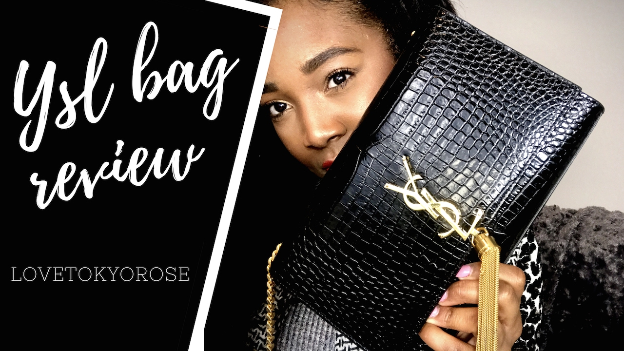 7dd5bccaa87d YSL Saint Laurent Bag Review Medium Embossed Croc Kate w tassel ...