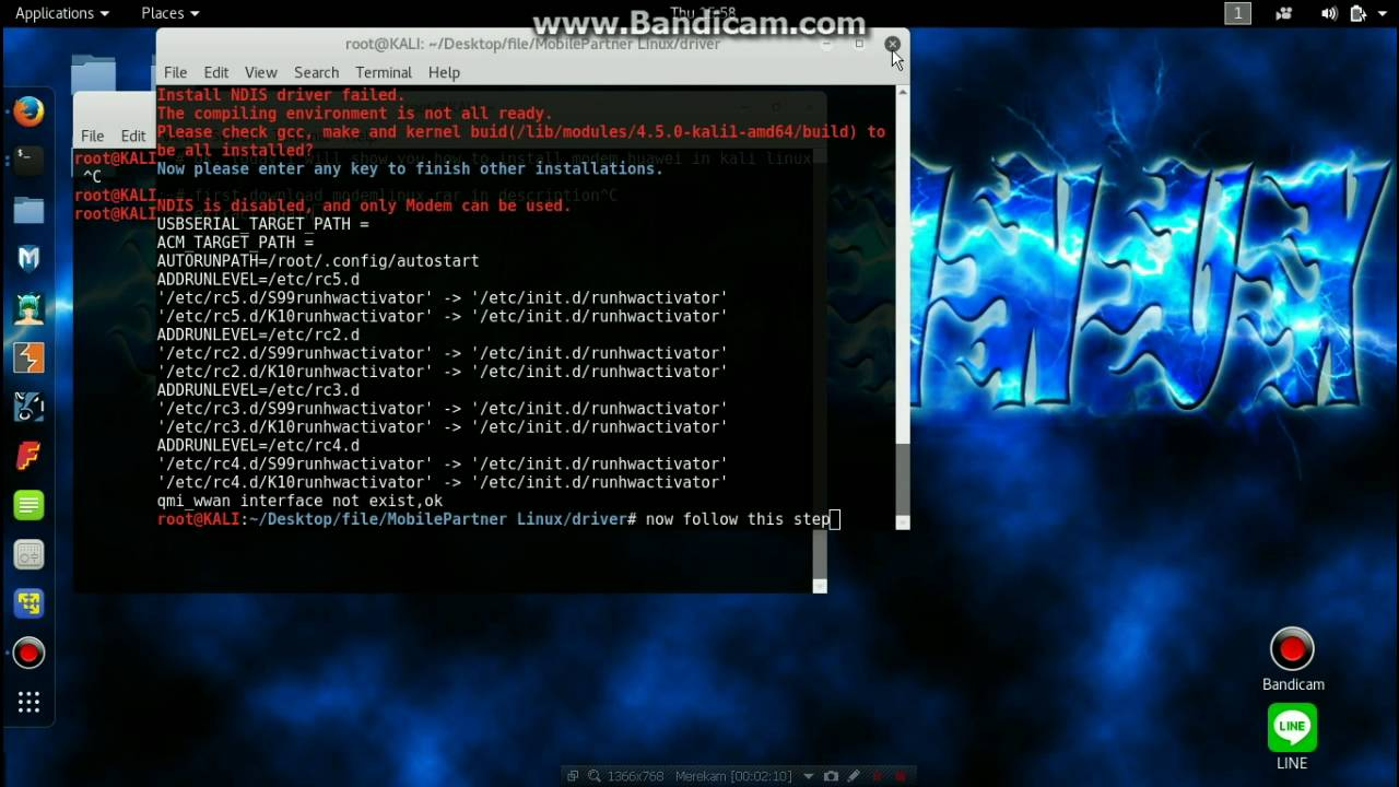 How to install Modem Huawei in Kali linux