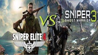 Sniper Elite 4 vs Sniper: Ghost Warrior 3 comparison Side by Side