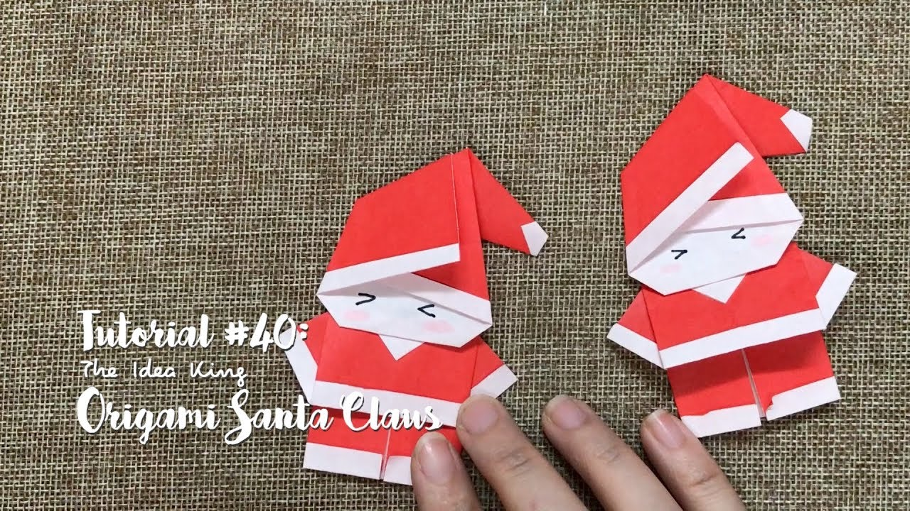 How To Make Diy Origami Santa Claus The Idea King Tutorial 40
