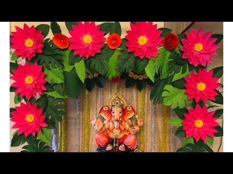 Decoration Ideas For Ganpati At Home Paper