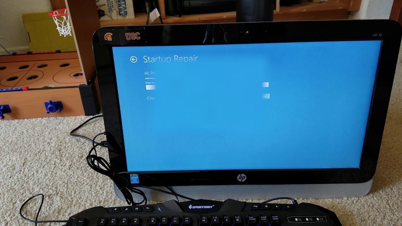 How do I reset my HP desktop Windows 18?