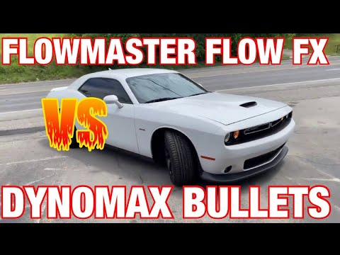 Dodge Challenger R/T 5.7L HEMI: DYNOMAX RACE BULLETS Vs FLOWMASTER FLOW FX!