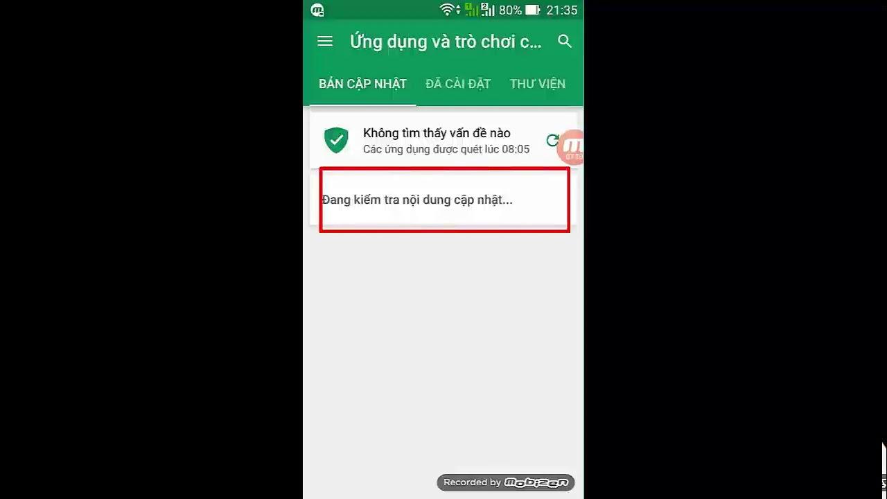 Cách tùy chọn update các app trên smartphone