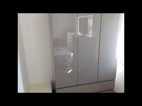 Argos HOME Jenson Grey Gloss Wardrobe Flat Pack Furniture Assembly In Leicester