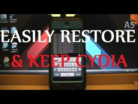 RESTORE YOUR DEVICE WITHOUT UPDATING OR LOSING JAILBREAK