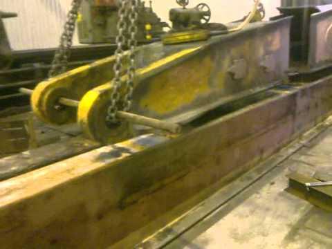 broken excavator boom rebuild