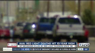 AAA Red Light Deaths Hit 10 Year High