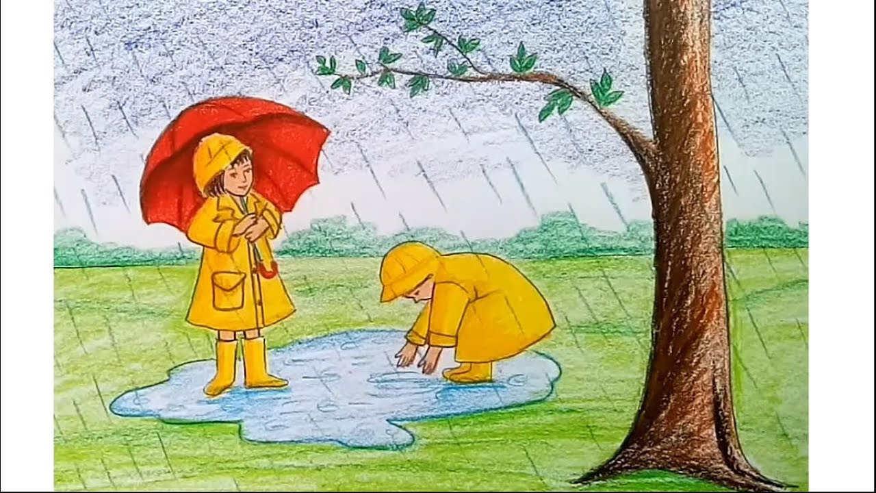 This is a photo of Fan Rainy Day Drawing
