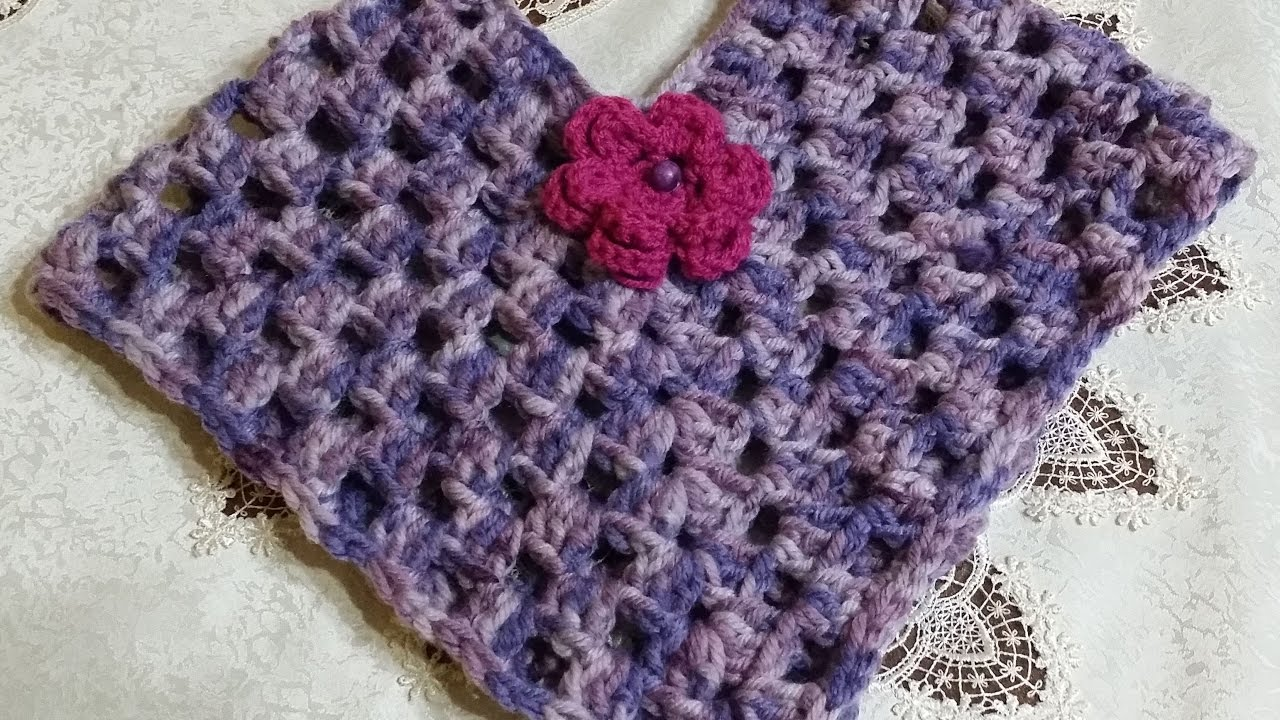 Poncho Facile Alluncinettoeasy Crochet Ponchofácil Poncho Del