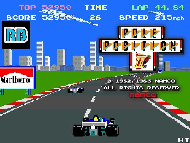 1983 [60fps] Pole Position II 65420pts Seaside ALL