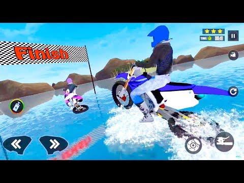 Water Surfing Moto Bike Stunt Bike Racing Games Android Gameplay