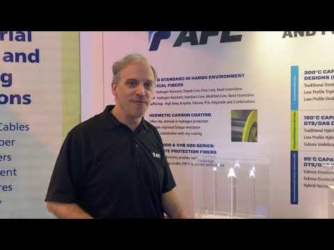 Bill talking specialty optical fiber at OTC 2019