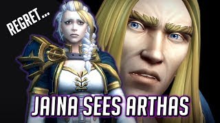 Jaina (Filled with Regret) Sees Arthas in the Blighted Lands - WOW BFA Cinematic