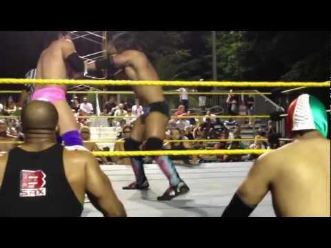 FCW Lumberjack Match at Miami-Dade County Youth Fair 2012 Seth Rollins VS Damian Sandow