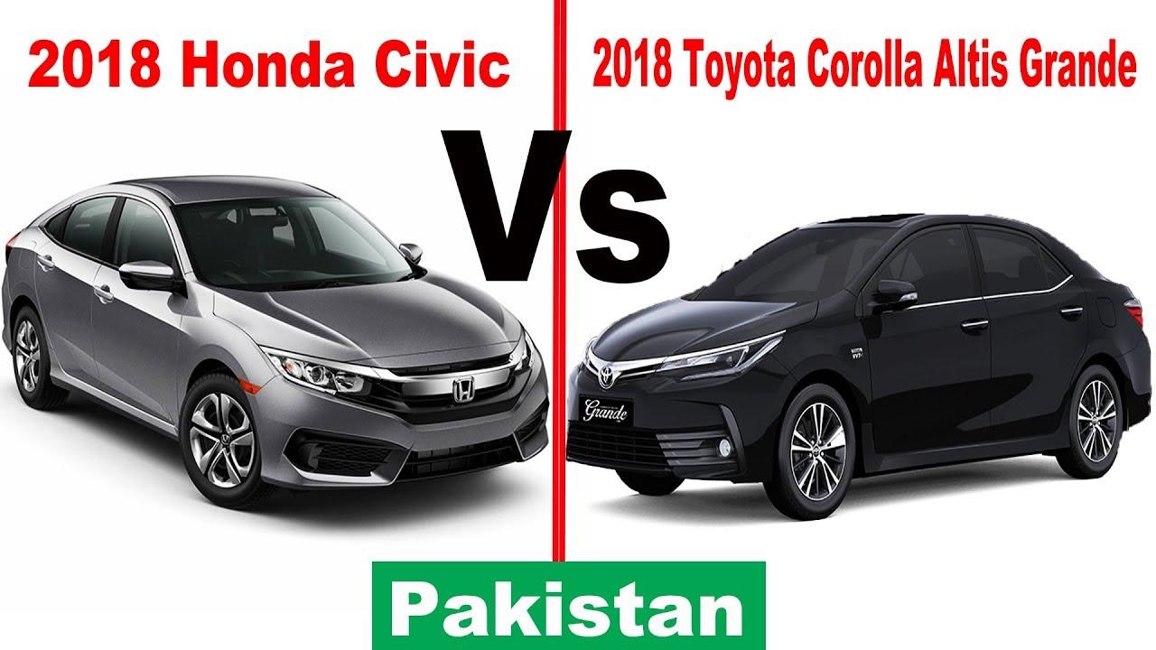 all new corolla altis vs civic spesifikasi grand avanza 2016 2018 honda toyota grande pakistan