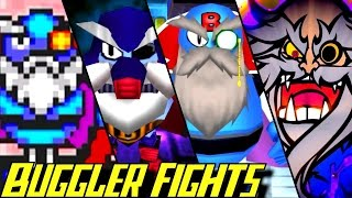 Evolution of Buggler Battles in Bomberman Games (1983-2017)