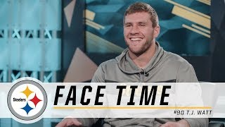 T.J. Watt on Week 1, AFC Defensive Player of Week honors | Pittsburgh Steelers Face Time