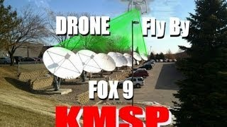 Drone Fly By of Fox 9 TV Channel Satellite Dish  - DJI Phantom