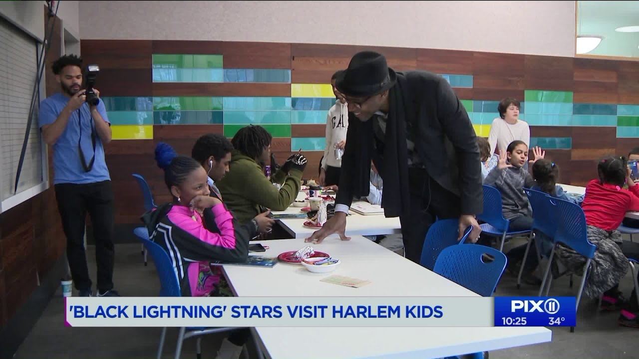 `Black Lightning` stars visit the Boys and Girls Club of Harlem
