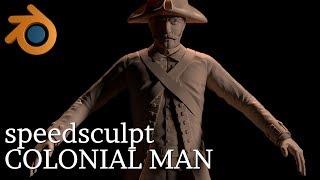 BLENDER SCULPT - The Colonial Man [TIME LAPSE]