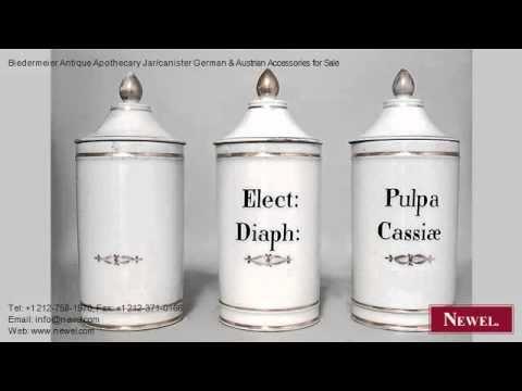 Biedermeier Antique Apothecary Jar/canister German & Austria