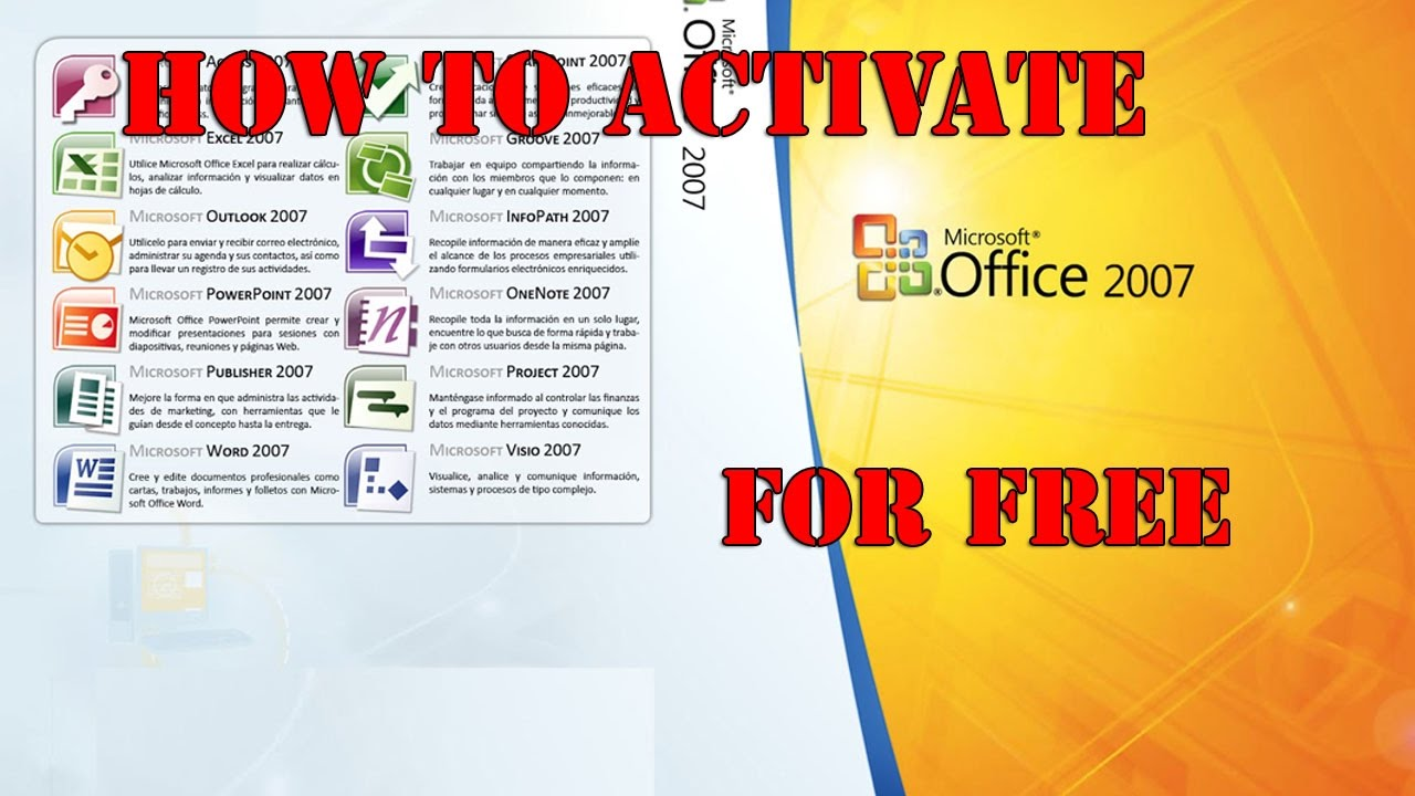 how to activate microsoft office 2007 for free in 5 minutes easy 100 working product key free - Visio 2007 Serial Key