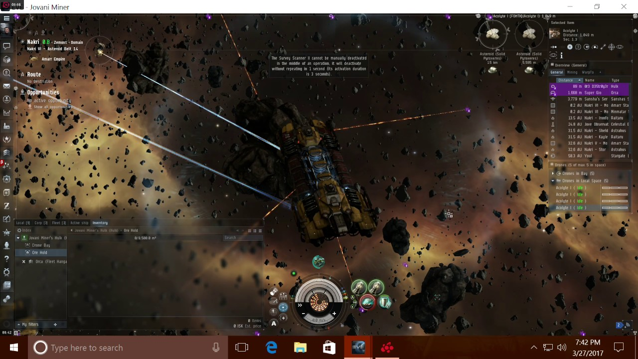 eve online how to find mining laser