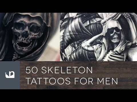 50 Skeleton Tattoos For Men
