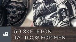 50 Skeleton Tattoos For Men