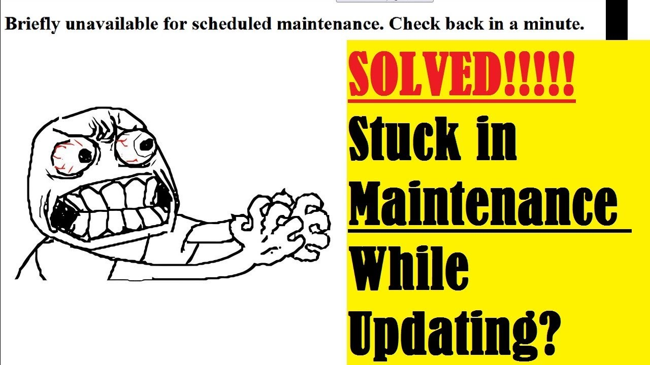 Wordpress Stuck in Maintenance Mode No .Maintenance File?