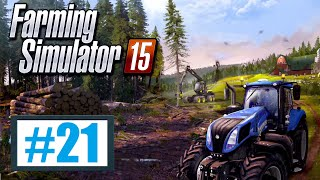 Kombajn Case w akcji - Farming Simulator 15 #21, gameplay pl
