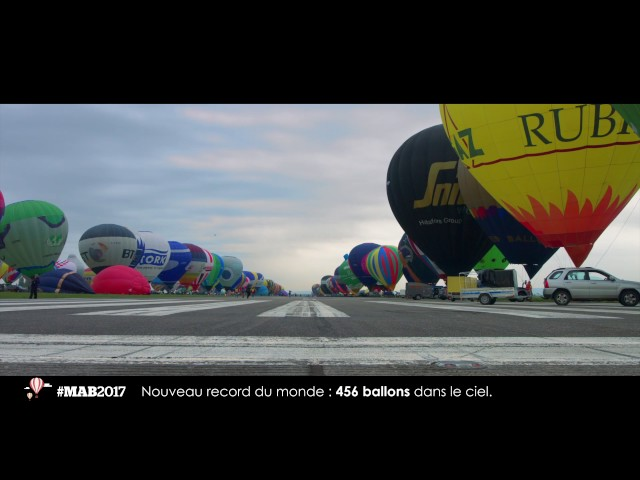 MAB2017 - Nouveau record : 456 ballons time-lapse SEQUENCE Productions