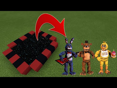 HOW TO MAKE A PORTAL TO FNAF DIMENSION IN MINECRAFT PE